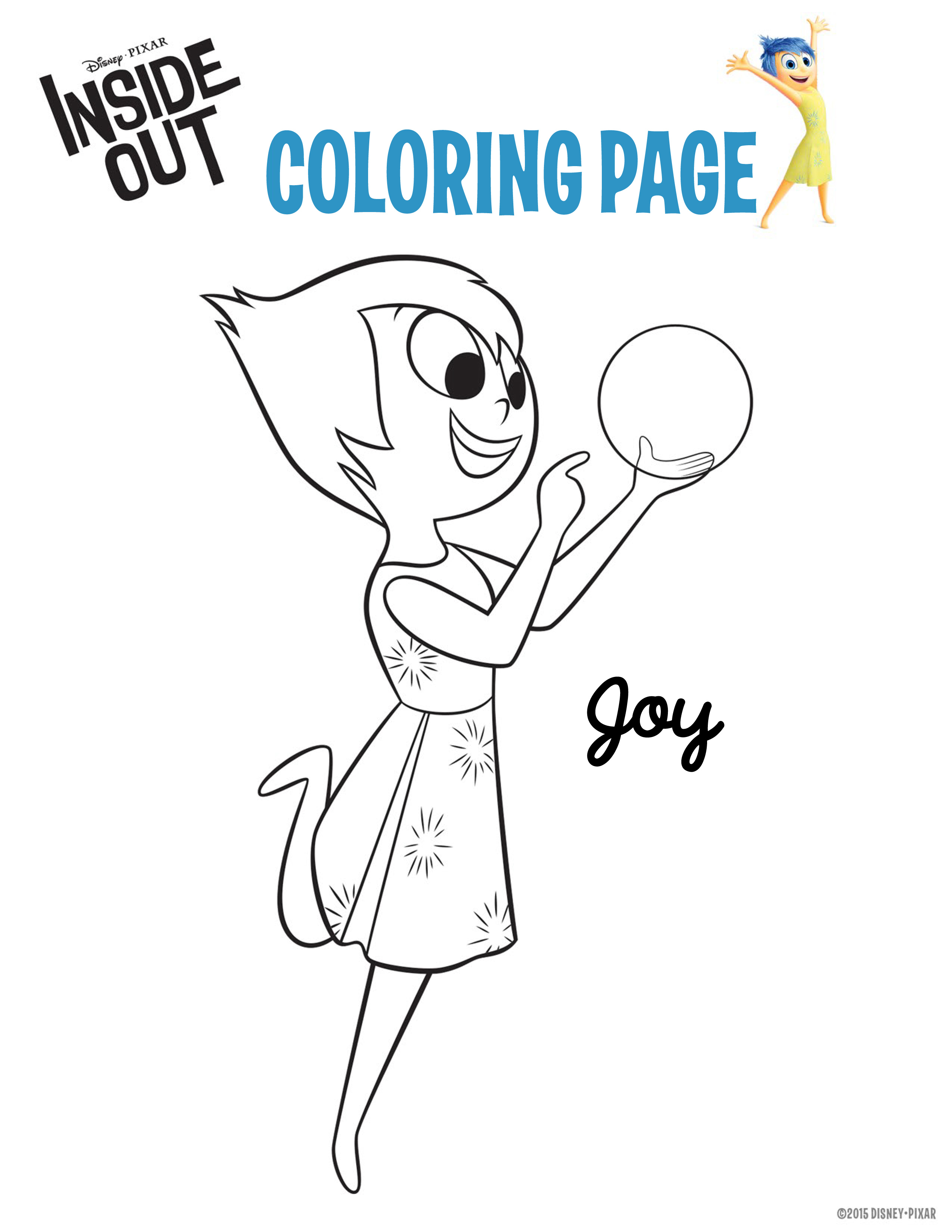 Inside Out To Print For Free Inside Out Kids Coloring Pages