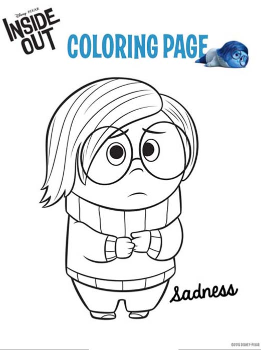 Inside Out Free To Color For Children Inside Out Kids Coloring Pages