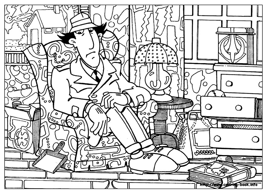 inspector gadget coloring pages - photo#21