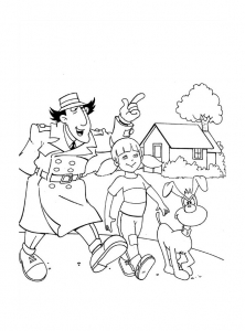 Coloring page inspector gadget free to color for children