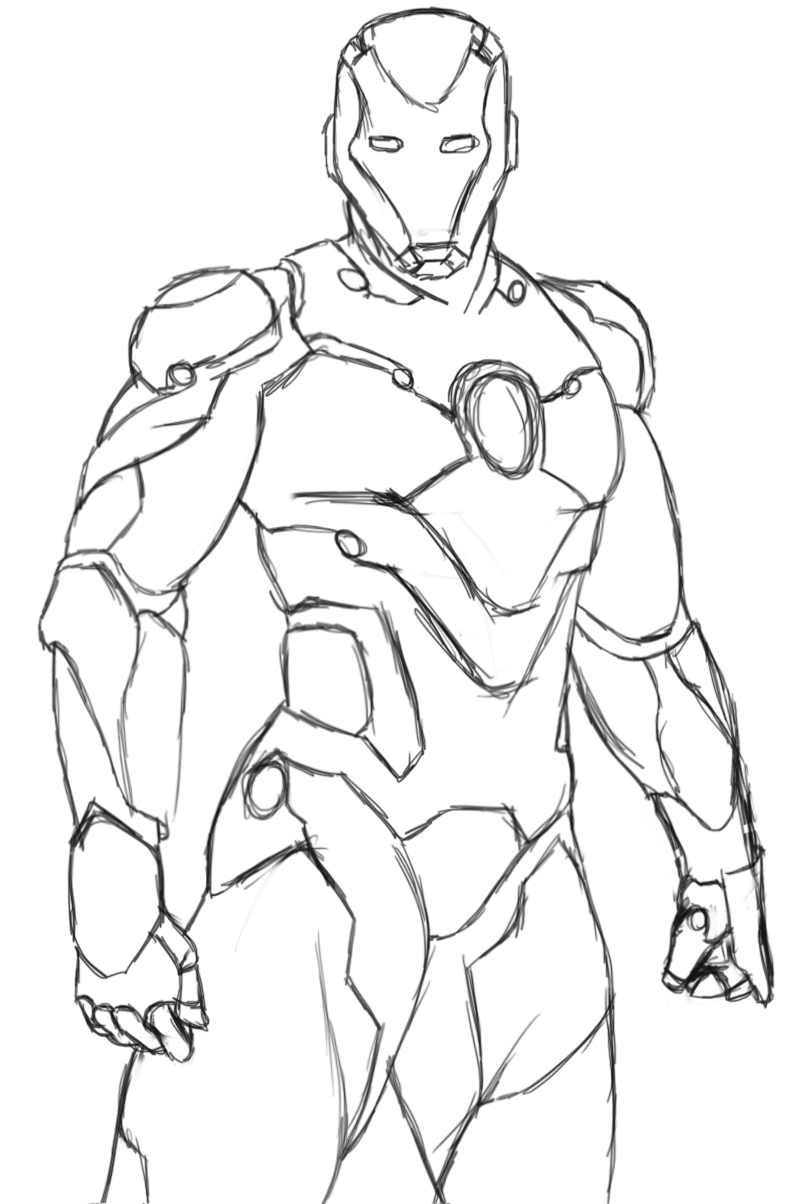 Iron Man coloring page to print and color