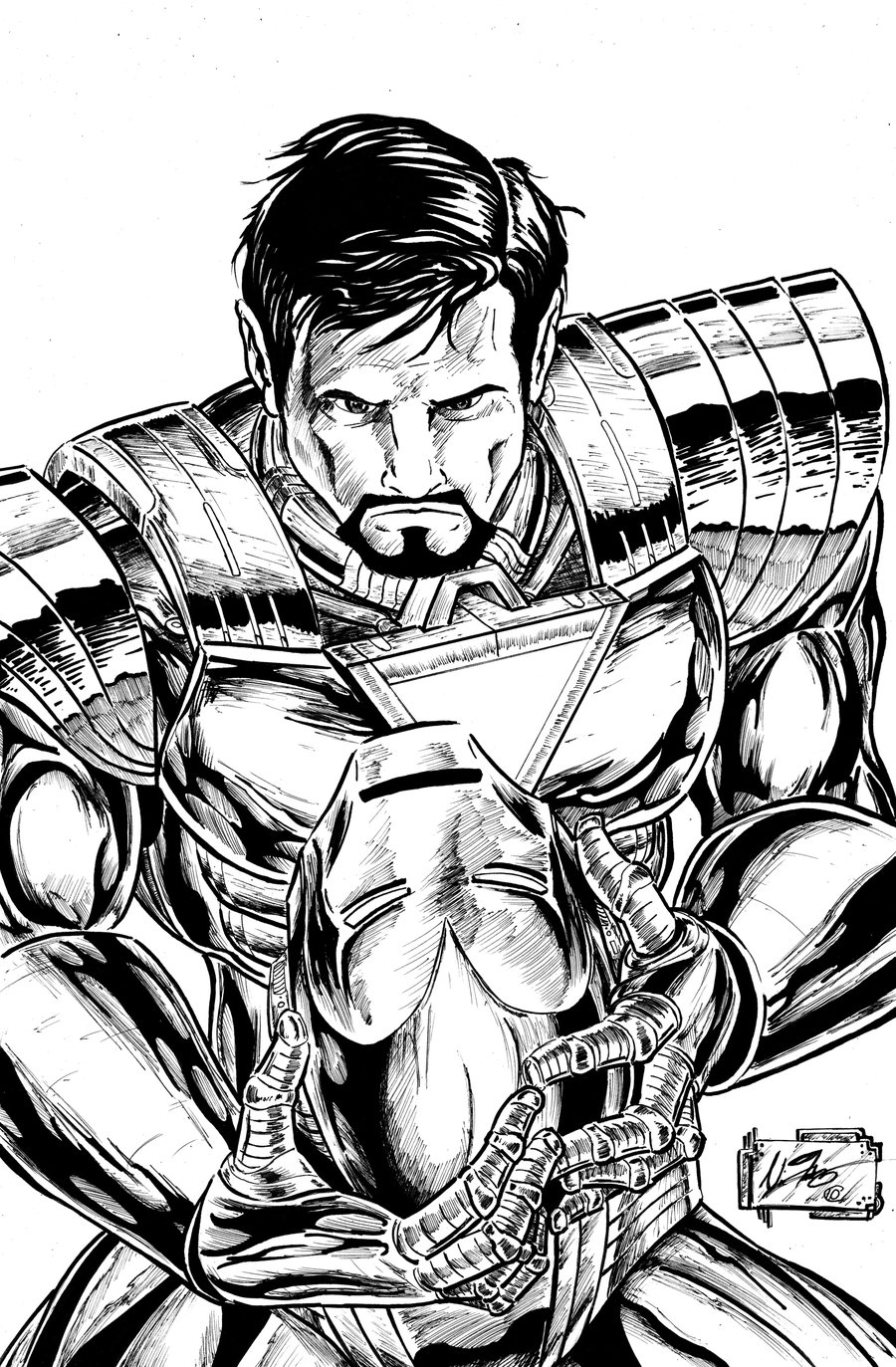 Free Iron Man coloring page to print and color