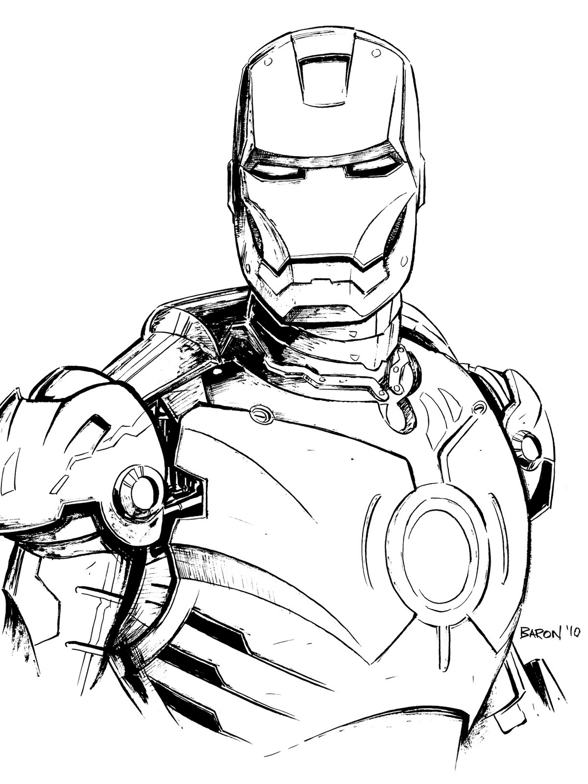Beautiful Iron Man coloring page to print and color