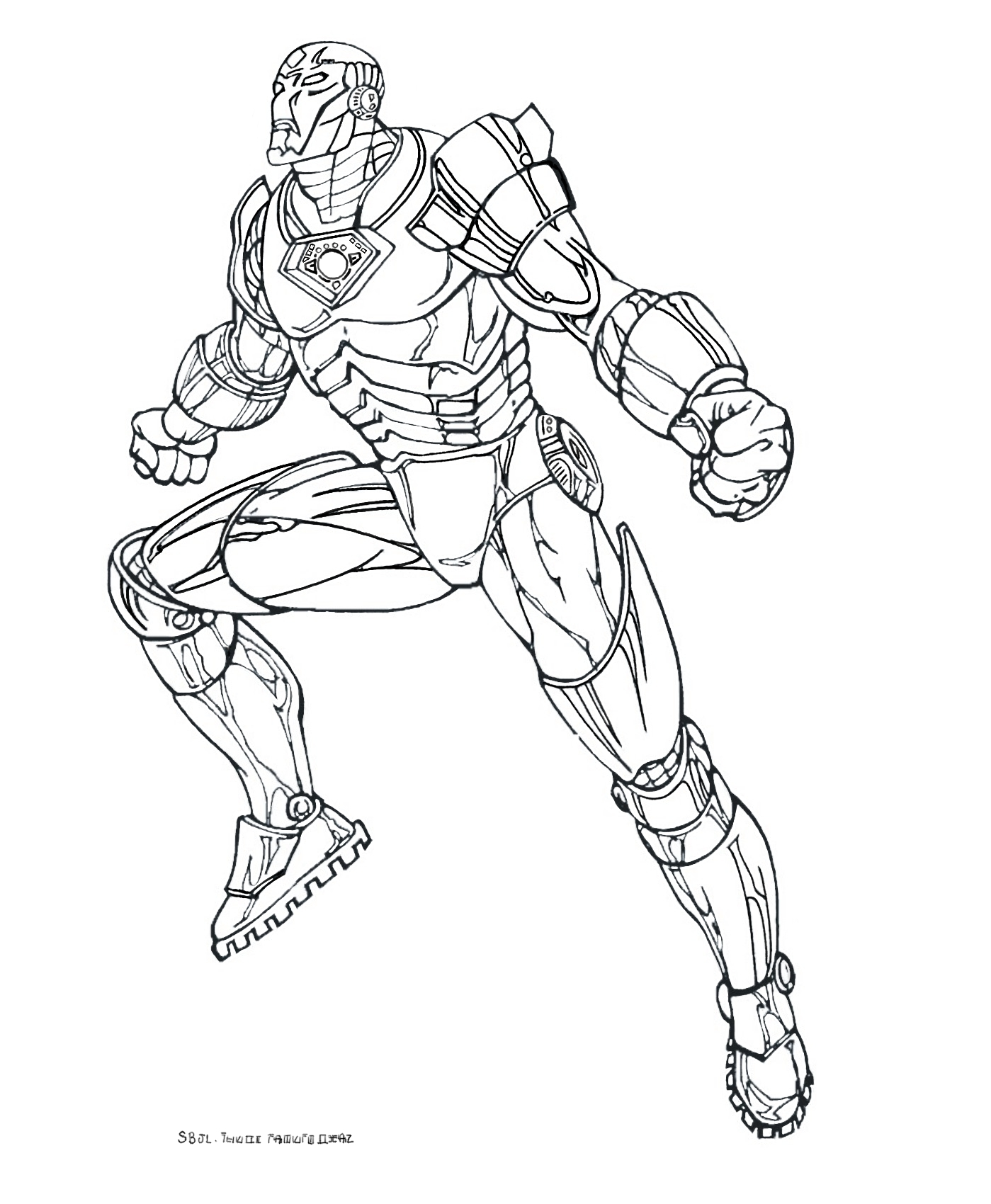 Funny Iron Man coloring page for kids