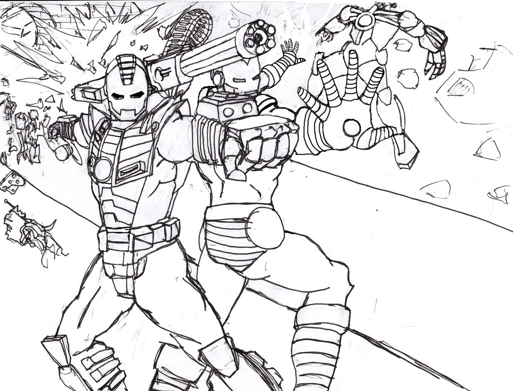 Iron Man To Color For Children Iron Man Kids Coloring Pages