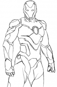 Coloring page iron man to download for free