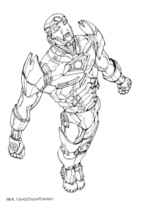 Coloring page iron man for children