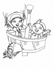 Coloring page jake and the pirates to color for children