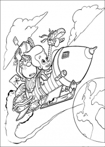 Coloring page jimmy neutron for kids