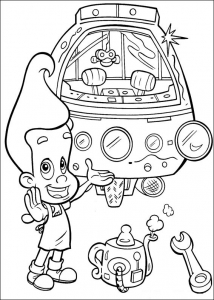 Coloring page jimmy neutron to color for children