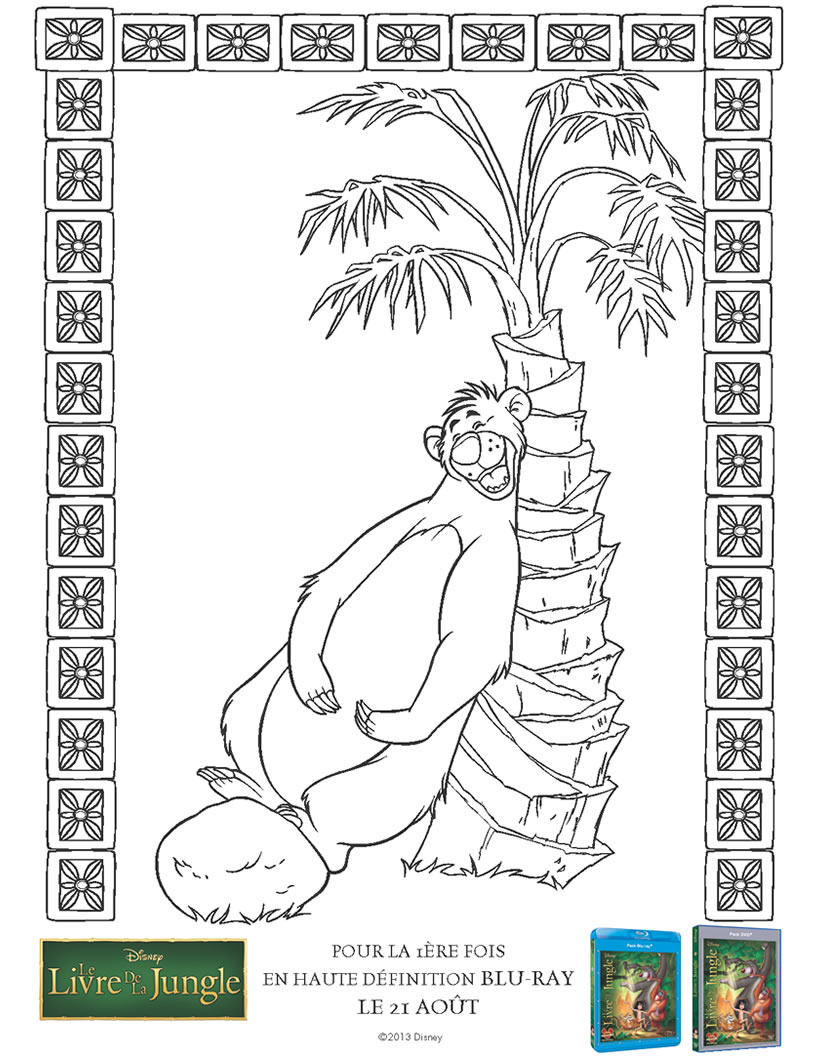 Jungle Book coloring page to print and color for free