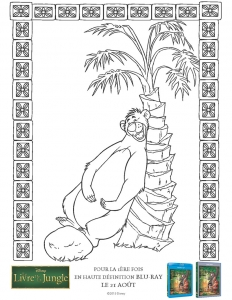 Coloring page jungle book to download
