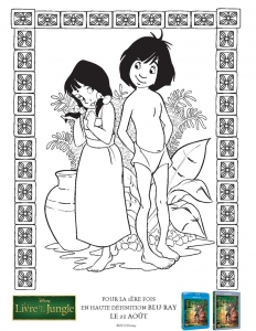 Coloring page jungle book for children