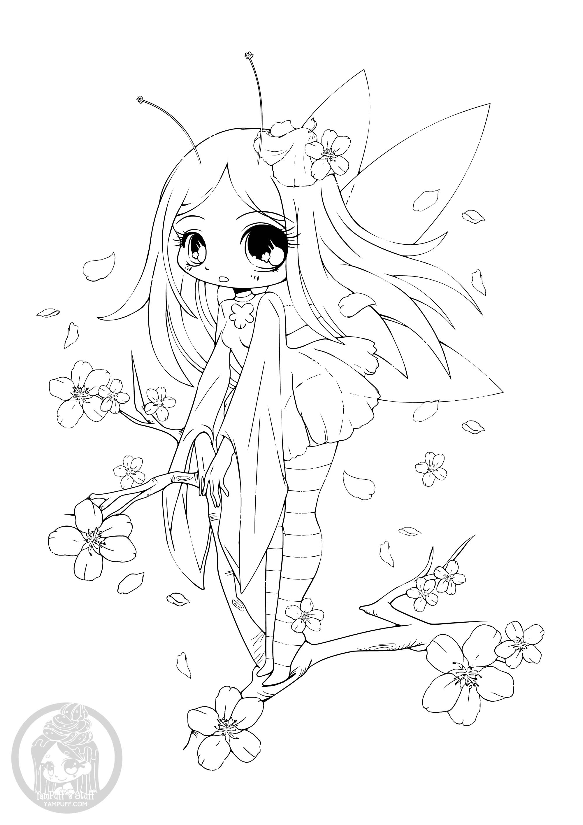 Kawaii For Children Kawaii Kids Coloring Pages
