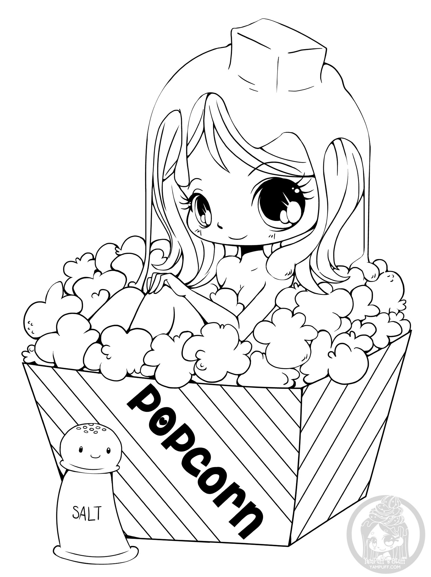 Kawaii To Color For Kids Kawaii Kids Coloring Pages