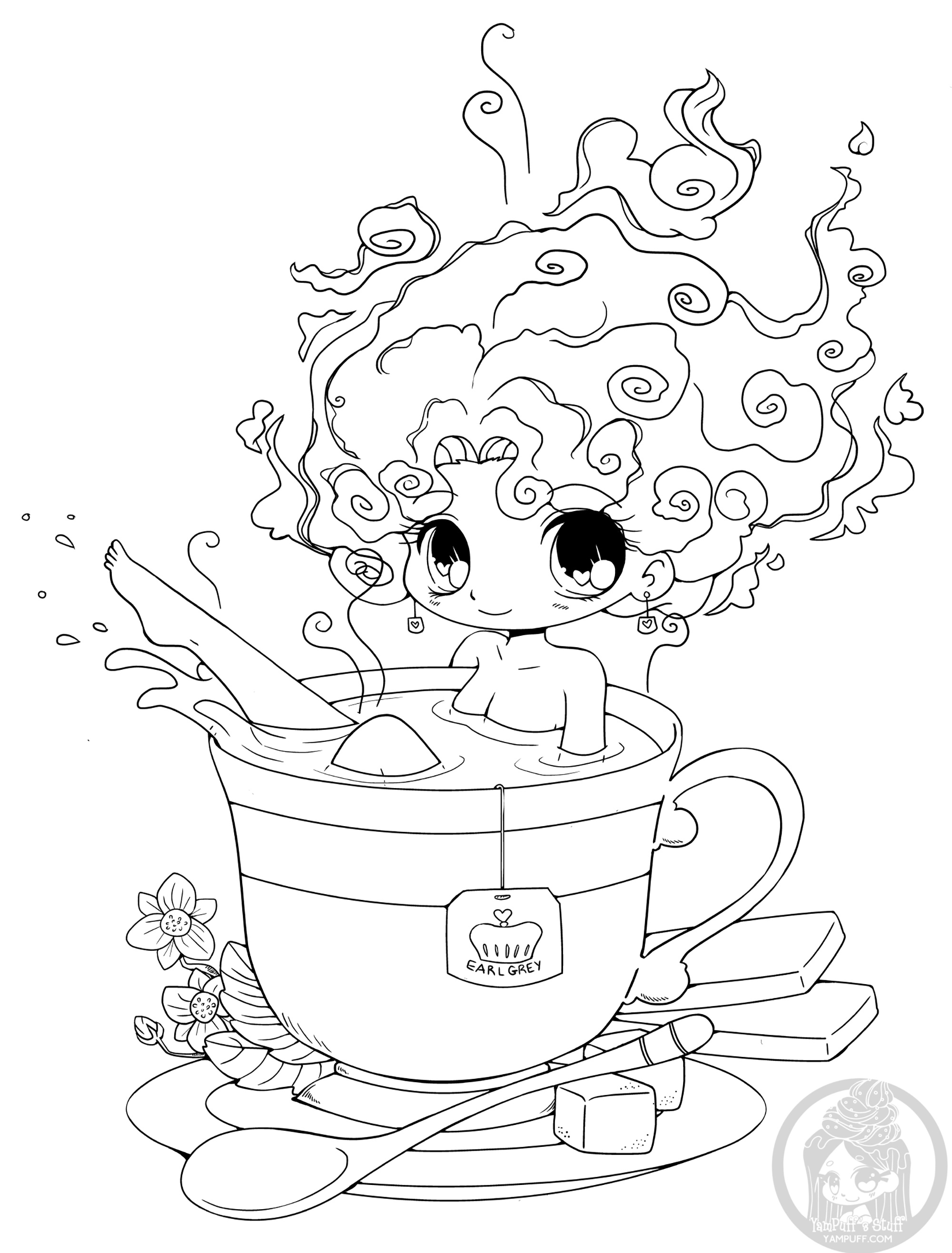 Kawaii to print - Kawaii Kids Coloring Pages