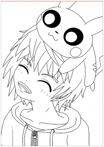 Coloring page kawaii to download for free