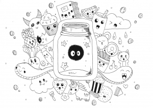 Coloring page kawaii free to color for children