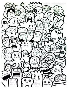 Coloring page kawaii for kids