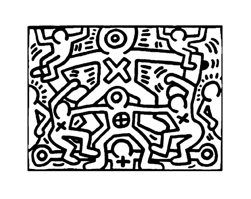 Keith haring to download for free Keith Haring Coloring pages