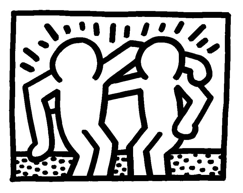 Coloriage Keith Haring.Keith Haring Free To Color For Kids Keith Haring Kids Coloring Pages