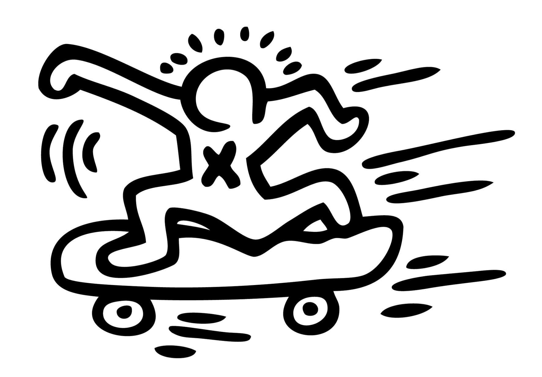 Incredible Keith Haring coloring page to print and color for free