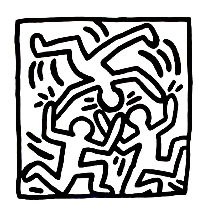 Keith Haring coloring page to download for free