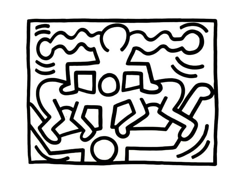 Keith Haring Coloring Pages - Democraciaejustica