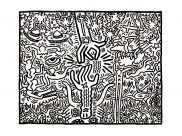 Keith Haring Coloring Pages for Kids