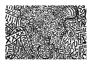 Coloring page keith haring to download
