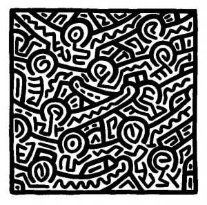 Coloring page keith haring to print