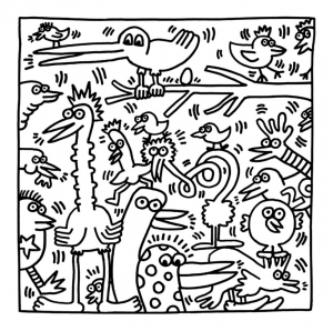 Coloring page keith haring to print for free