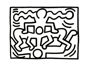 Coloring page keith haring free to color for children