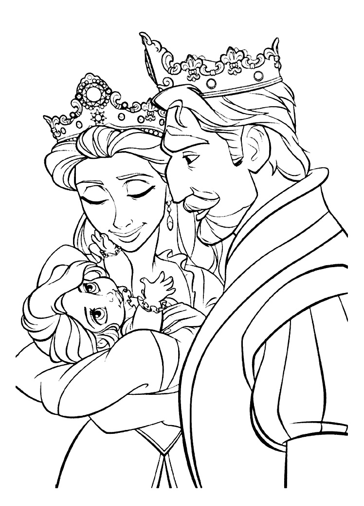 Printable Kings And Queens coloring page to print and color for free