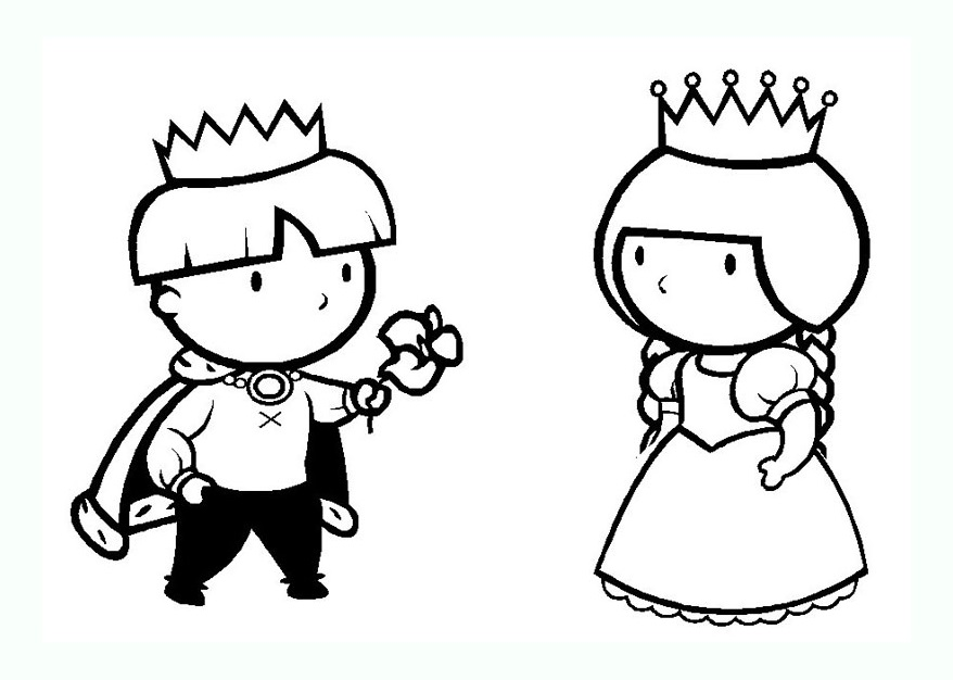 Kings And Queens coloring page to print and color