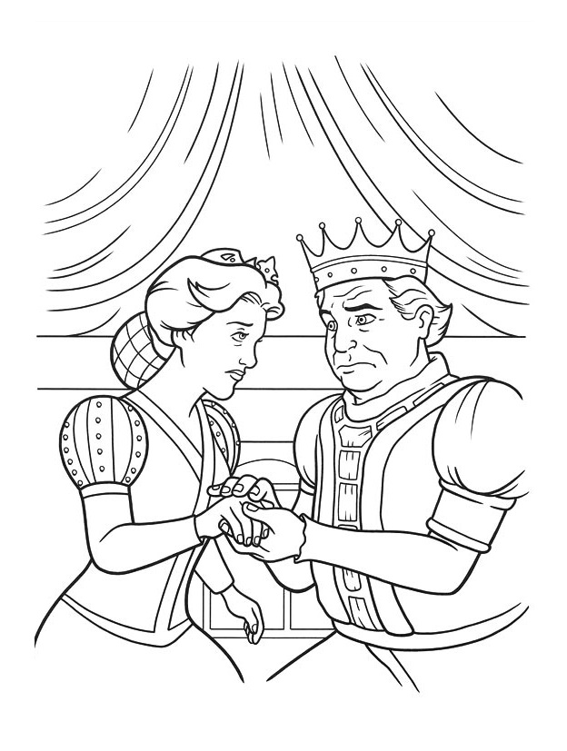 Beautiful Kings And Queens coloring page to print and color