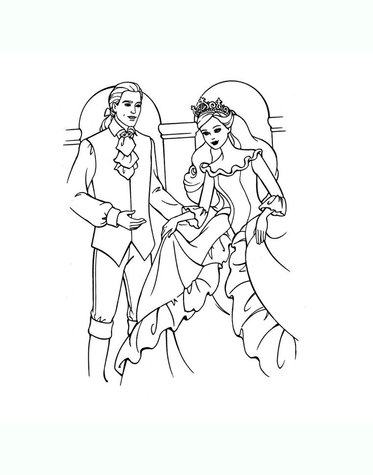 Free Kings And Queens coloring page to download