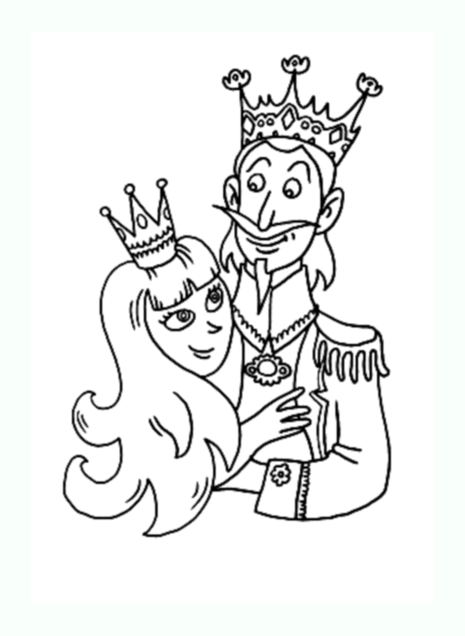 Funny Kings And Queens coloring page