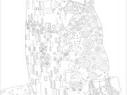 Gustav Klimt Coloring Pages for Kids
