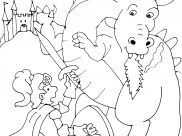 Knights And Dragons Coloring Pages for Kids