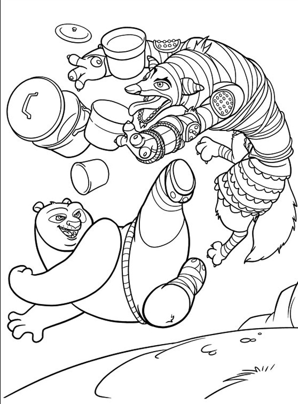 Free Kung Fu Panda coloring page to download