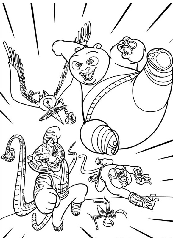Free Kung Fu Panda Coloring Page To Download For Children