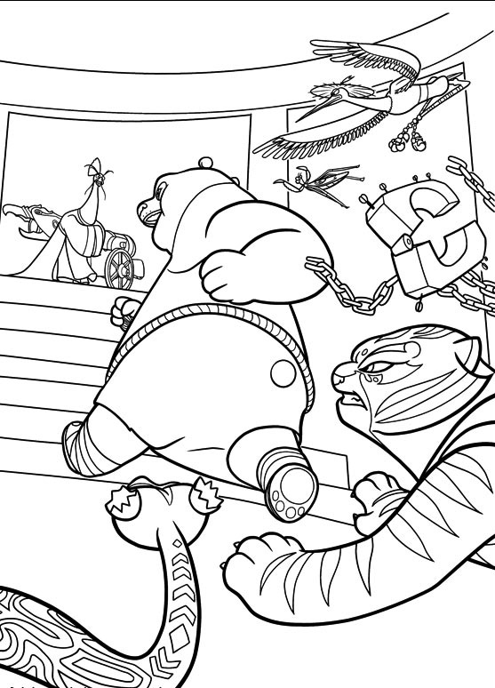 Free Kung Fu Panda coloring page to print and color, for kids