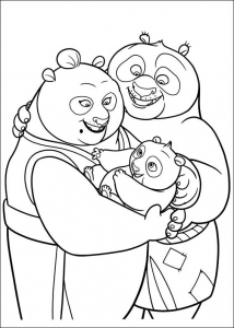Coloring page kung fu panda to download for free