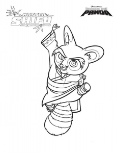 Coloring page kung fu panda to color for children
