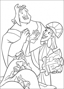 Coloring page kuzco to color for kids