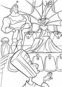 Coloring page kuzco to color for children