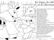 La Fontaines Fables Coloring Pages for Kids