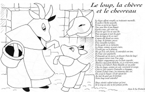 Coloring page la fontaines fables to download