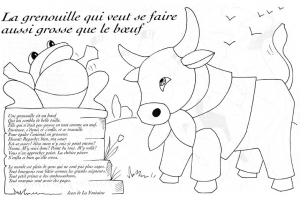 Coloring page la fontaines fables for children